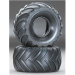 Tires Dual Profile Left/Right 1/16 Grave Digger