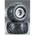 Tires/Wheels Assembled 1/16 Grave Digger (2)