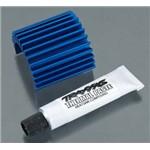 Traxxas Heat Sink Velineon 380 Motor Brushless, Aluminum Blue-Ano