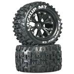 """Lockup MT 2.8"""" Truck 2WD Mntd Rear C2 Blk (2)"""
