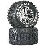 """Lockup MT 2.8"""" Truck 2WD Mntd Rear C2 Chrm (2)"""