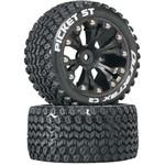 """Picket ST 2.8"""" Truck 2WD Mntd Rear C2 Blk (2)"""