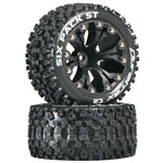 """Sixpack ST 2.8"""" Truck 2WD Mntd 1/2"""" Offset C2 Blk (2)"""