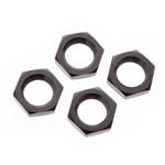 Wheel Nut Aluminum 17mm Black (4)