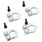 1/10 Scale Alum Silver Tow Shackle D-Rings (4)