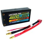 "7.4V 4600mAh 100C ""Shorty"" Lipo Battery with 4mm Bullet Connecto"