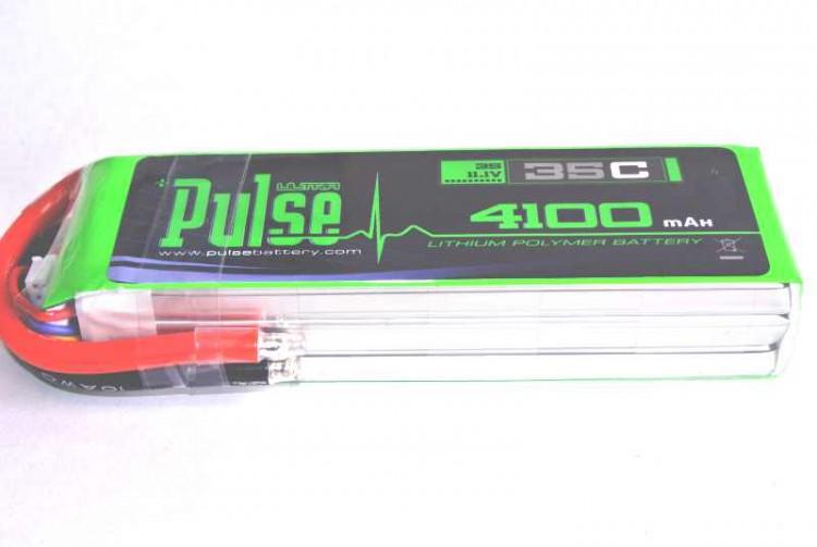 Pulse LIPO 4100mah 3S 35C