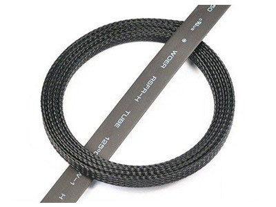 RJX Servo Wire Braided Sleeving Wrap Color Black 3 (1m)