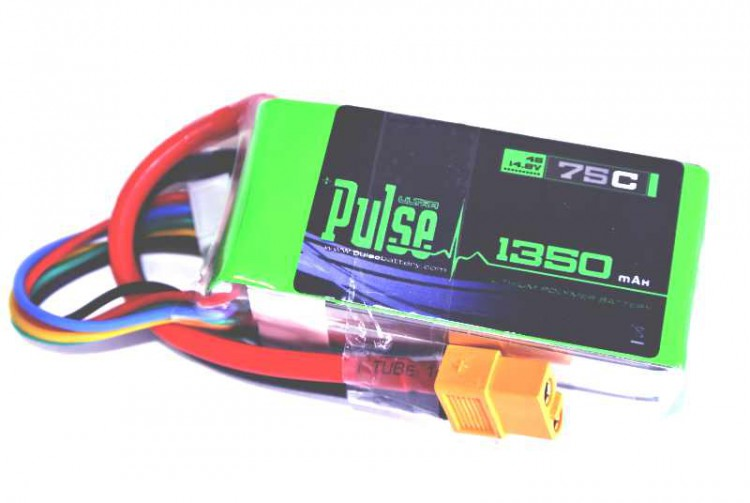 RJX PULSE LIPO 1350mah 4S 75C