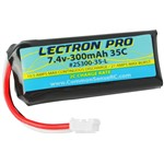 Lectron Pro 7.4V 300mAh 35C Lipo Battery with UMX Connector for
