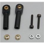 Swivel Ball Link Black 2mm w/Hardware (2)