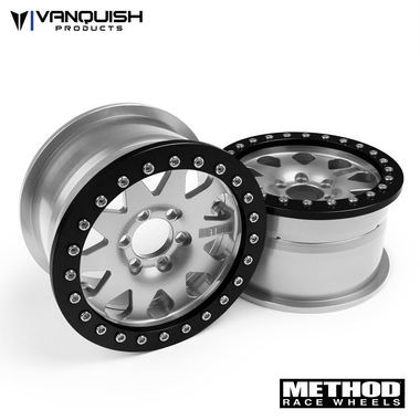 """Vanquish Products Method 2.2 Race Wheel (1.2"""" Wide) 101 Clear/Black Anodized"""