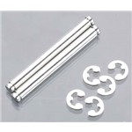 Suspension Pins 31.5mm Chrome w/E-Clips