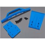 Fr Bumper+Skid Plate Blue Slash 4x4