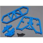 Rear Bumper Blue Slash 4x4