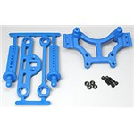 Shock Tower/Adj Mount Blue T/E-Maxx