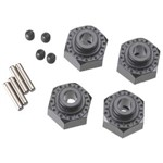 Aluminum Hex Hub 12mm Black (4)