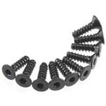 Hex Socket Tap Flat Head M3x10mm Black (10)