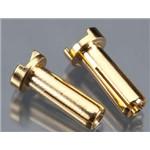 14mm 4mm Bullet Male Connectors (pr)