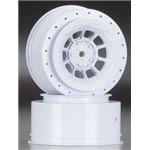 Hazard Slash Rear/4x4 Wheel White (2)
