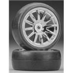 Tires/Wheels Assembled Glued 12-Spoke Chrome (2)