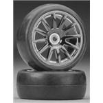 Tires/Wheels Assembled Glued 12-Spoke Black (2)